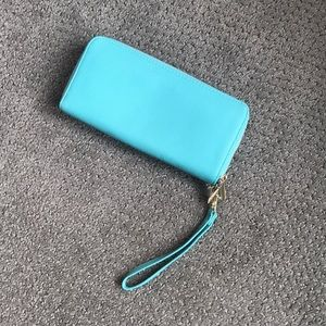 Cute teal wallet clutch